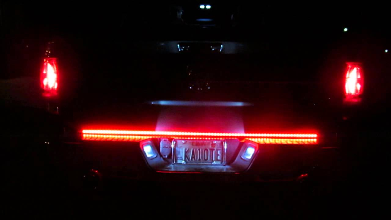 Recon Xtreme Tailgate Light Bar 26416x In Action Youtube