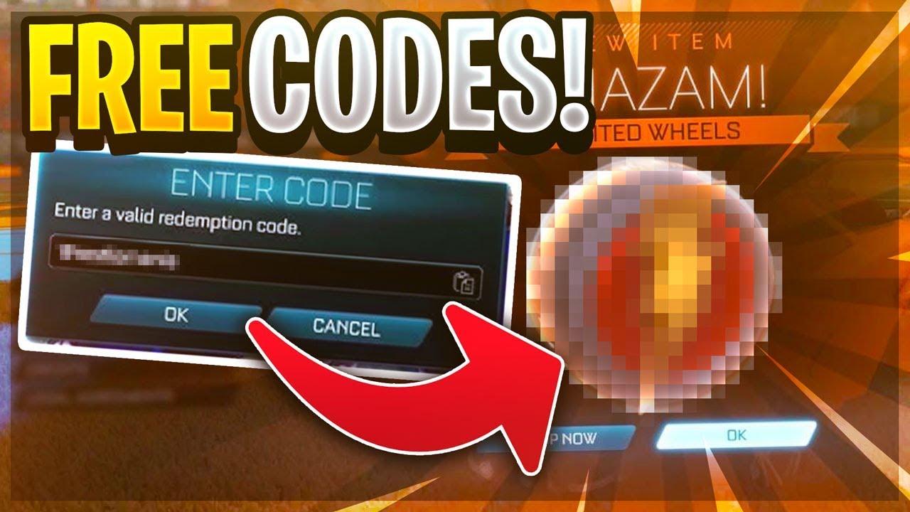 ALL *FREE* REDEEM CODES ON ROCKET LEAGUE!