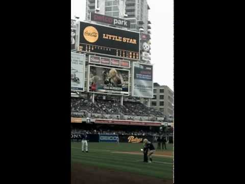 Chaz McRoberts on field @ San Diego PADRES baseball game June 2012