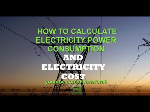 Tutorial: How to Calculate Cost of Electricity and Power Consumption