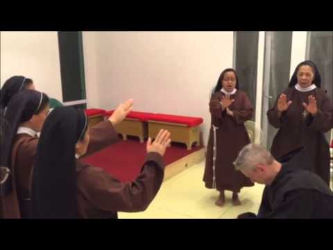 Arrival and Blessing By The Poor Clares