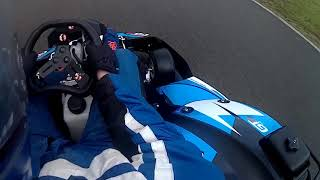 Driving on a wet track in a kart (karting eefde)