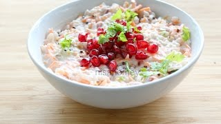 Best Curd Rice Recipe - How To Make Thayir Sadam - Indian Healthy Lunch Recipes