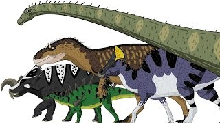 Marching Dinosaurs - Animated Size Comparison