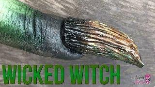 Wicked Witches Fingernail - 3D Sculpture Gel Tutorial - Halloween Nail Design