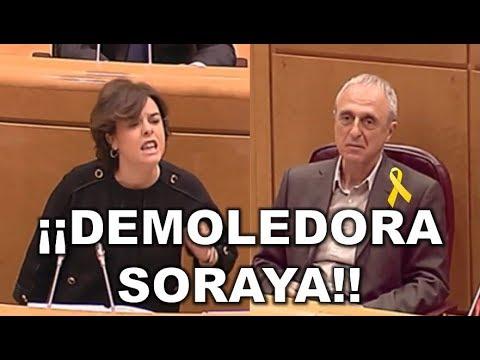 ►MADRE MIA◄ Senador de ERC INCREPA a SORAYA SAENZ DE SANTAMARIA y ella le mete *RAPAPOLVO DEL SIGLO*