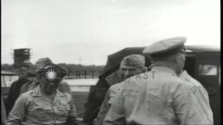 U.S. Army Chief of Staff, George C. Marshall, visits 6th Army Headquarters during...HD Stock Footage