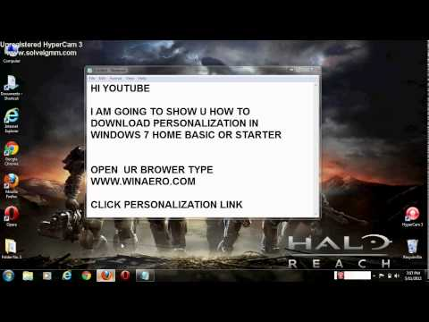 HOW TO DOWNLOAD PERSONALIZATION PANEL IN WINDOWS 7 HOME BASIC/STARTER