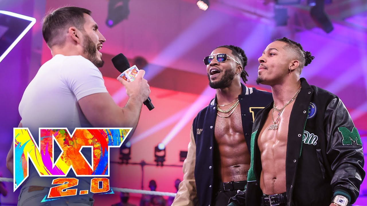 Download Johnny Gargano and Dexter Lumis crash Carmelo Hayes' victory party: WWE NXT, Oct. 19, 2021
