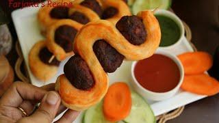 চুলায় তৈরি চিকেন বল স্টিক পিজ্জা রেসিপি/পিজ্জা রেসিপি/চিকেন পিজ্জা/Chicken Pizza Recipe/Pizza Recip