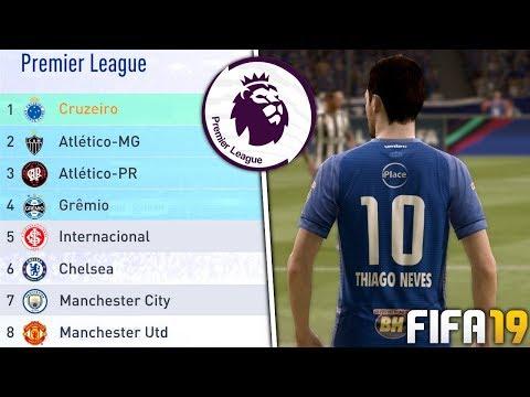 COLOQUEI OS MELHORES TIMES DO *BRASIL* NA PREMIER LEAGUE! | FIFA 19