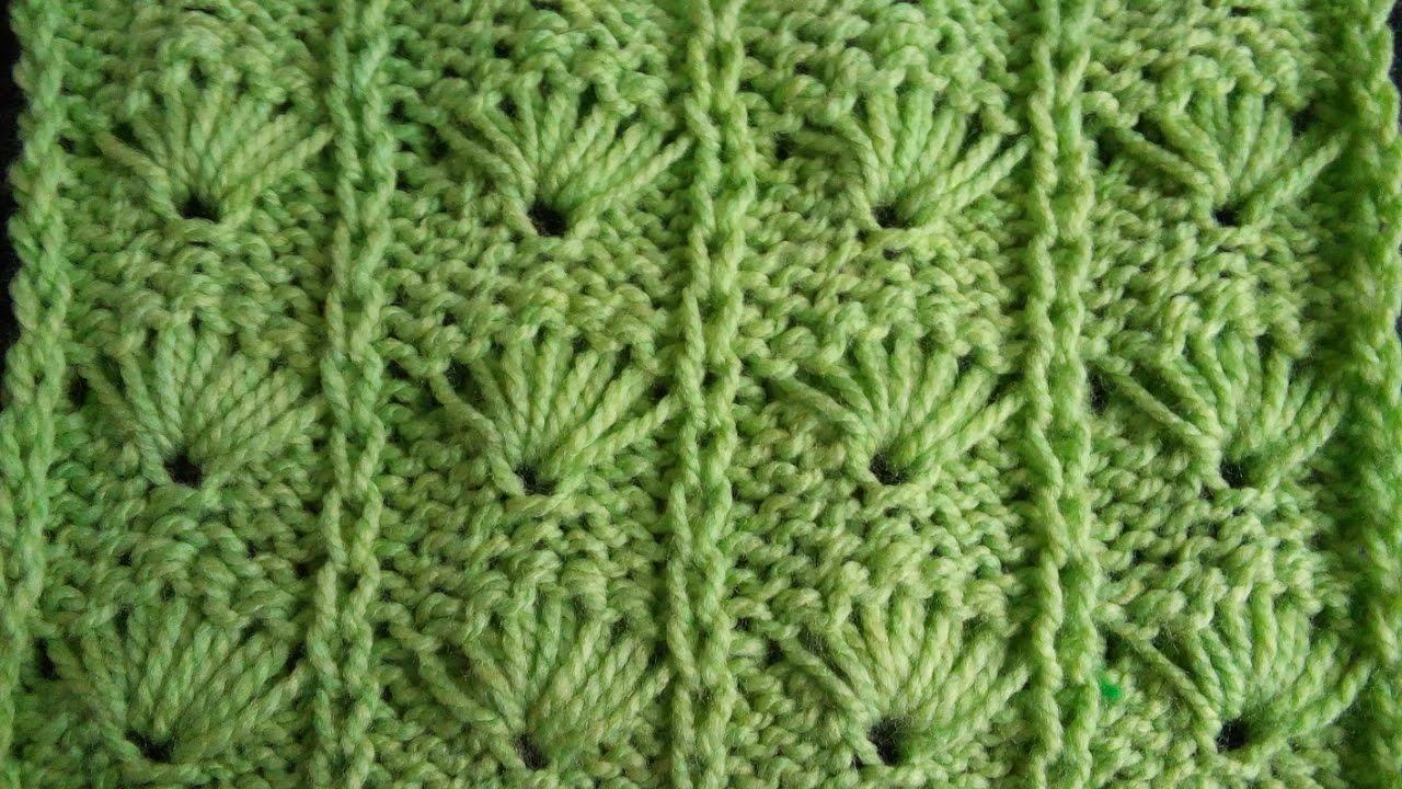 Pletenje - 6. Šara palmino lišće | Knitting tutorial - Palm Leaf ...