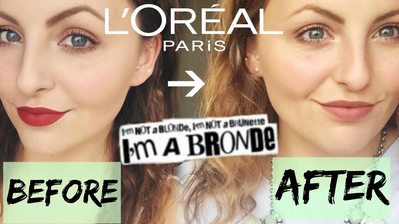 L Oreal Preference Glam Go Bronde Review Before During After