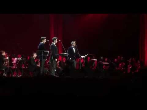 Il Volo in Los Angeles  Welcoming Maestro Placido Domingo on stage