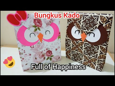 ( D I Y ) Paper bag OWL ( easy craft ) - On creation ^^