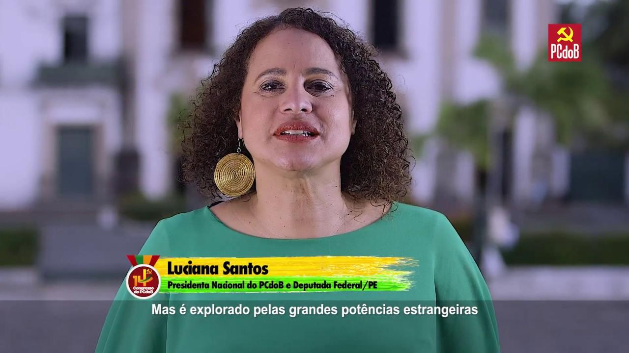 Resultado de imagem para presidente do PCdoB, deputada federal Luciana Santos (PE).