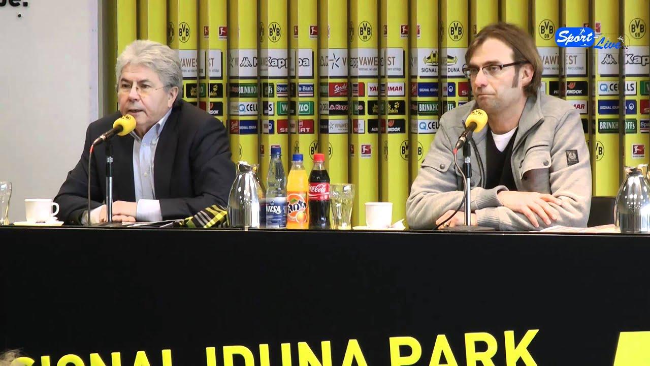 Borussia Dortmund - FSV Mainz 05 : Pressekonferenz vor dem Spiel mit Jürgen Klopp (Teil 1)