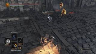 Winning a 3v1 With ONE Black Fire Bomb Dark Souls 3 pvp