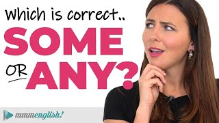 How to use SOME & ANY | English Lesson