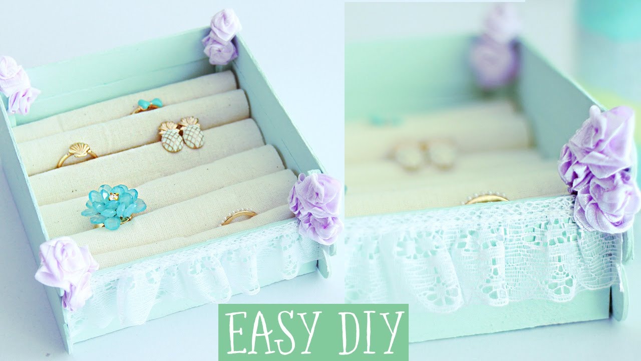 Jewelry box with popsicle sticks EASY DIY Projects YouTube