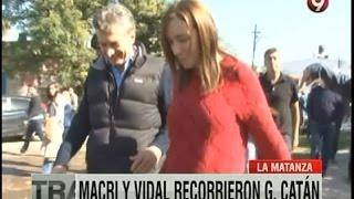Mauricio Macri y María Eugenia Vidal recorrieron González Catán