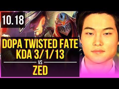 Dopa TWISTED FATE vs ZED (MID)   KDA 3/1/13   KR Challenger   v10.18