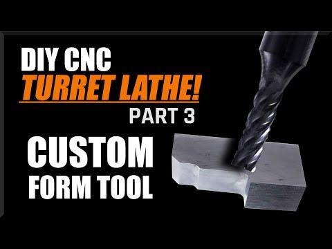 Machining a HSS Lathe Form Tool - DIY CNC Lathe Part 3   WW208