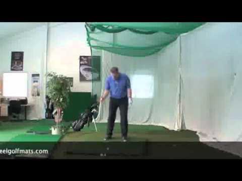 Golf Tip Balance Drill On Country Club Elite Golf Mat