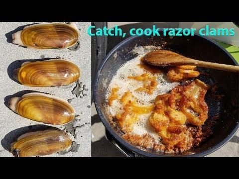 Catch and cook razor clams - Oregon