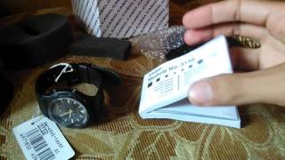 unboxing casio aw 90h