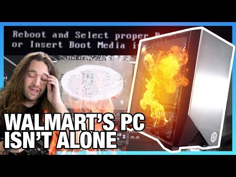 Walmart vs. CyberPower for Worst Pre-Built PC: Overheating GMA 4600 BST