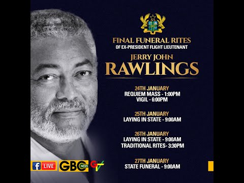 LIVE | Burial service for former President Rawlings