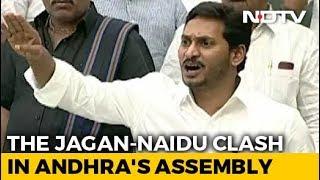Jaganmohan Reddy, Chandrababu Naidu Face-Off During Andhra Pradesh Budget