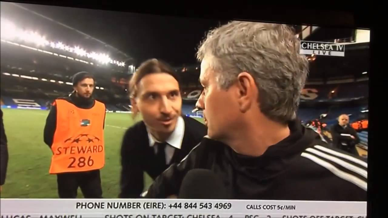 Download Ibrahimovic wishes Mourinho good luck in the Champions leaugue