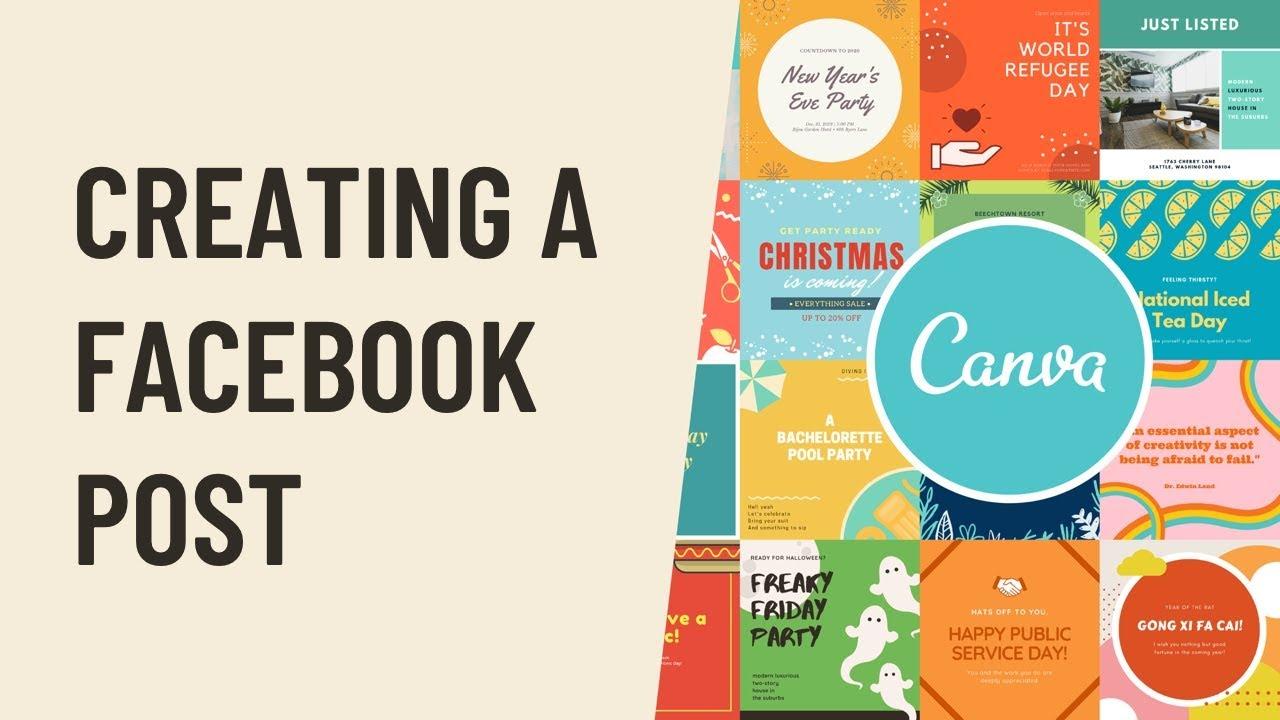 Canva Creating a Facebook Post