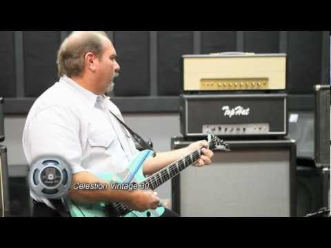 Guitar Speaker Shootout, Celestion, JBl D120F, Eminence, Altec Lansing using a Marshall JCM-2000