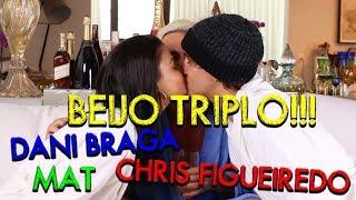 Beijo Triplo com Christian Figueiredo e Dani Braga. TAG: Eu Nunca | #HotelMazzafera