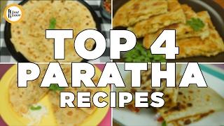 4 Must Have Parathas (Aloo Ka Paratha, Chicken Cheese Paratha, Muli Ka Paratha and Pizza Parata)