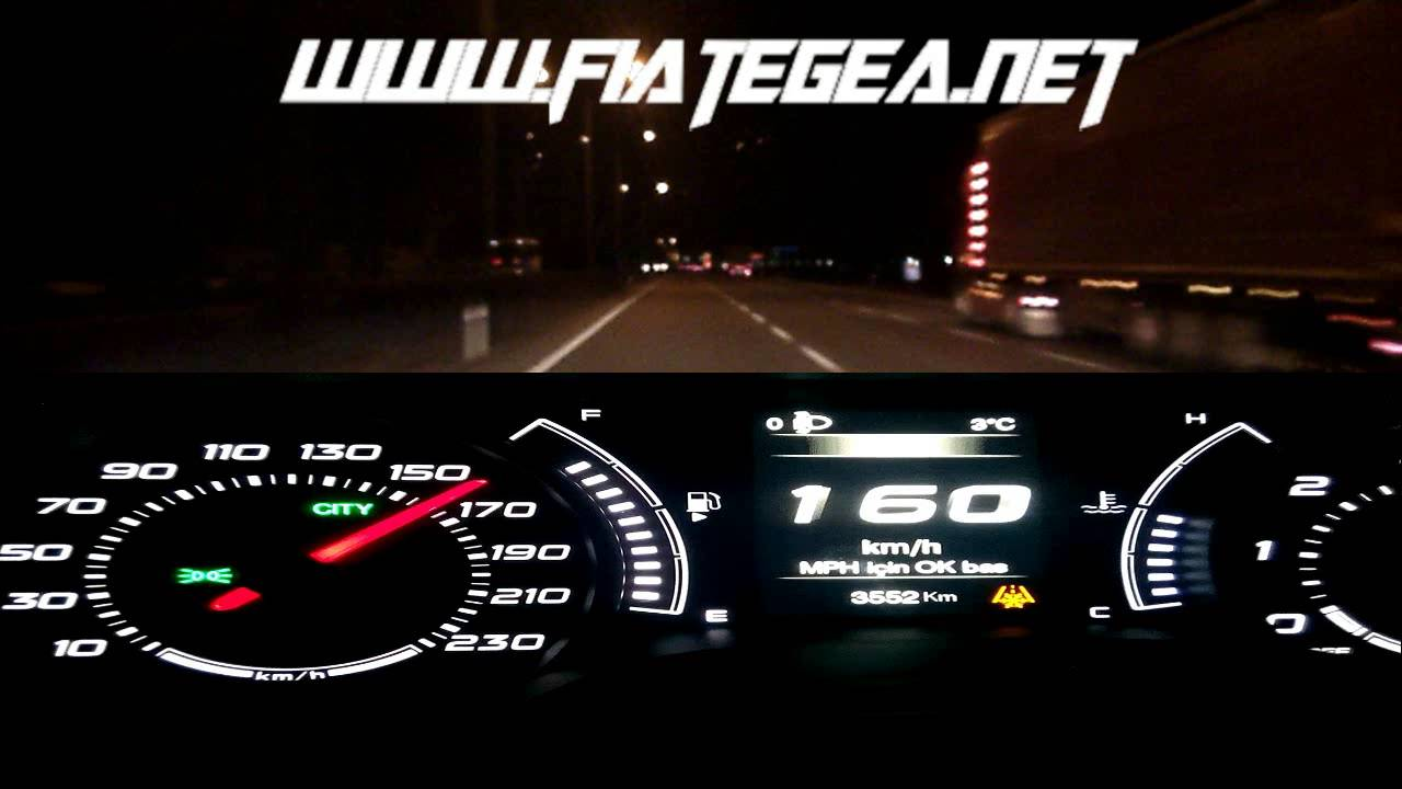 fiat egea/tipo 1.6multijet hızlanma(speed-up) 100km/h anlık yakıt