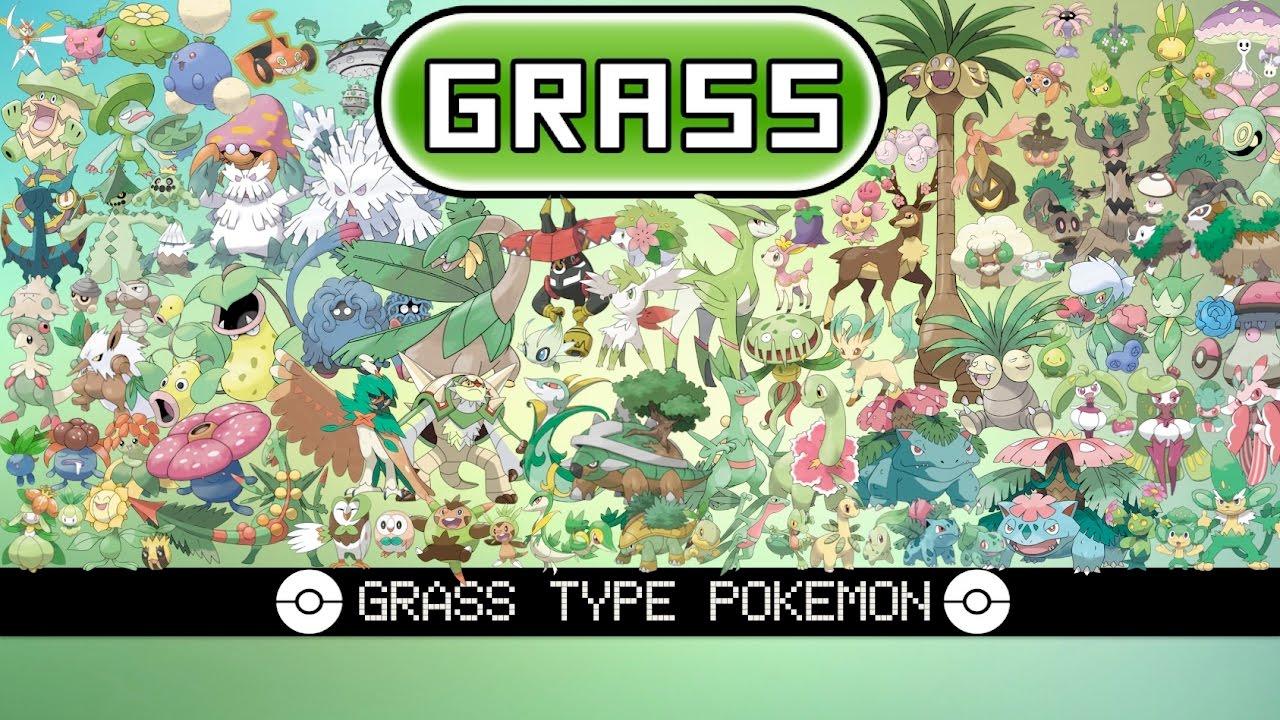 All Grass Type Pokémon Youtube