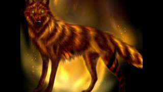 Anime wolves: just like fire