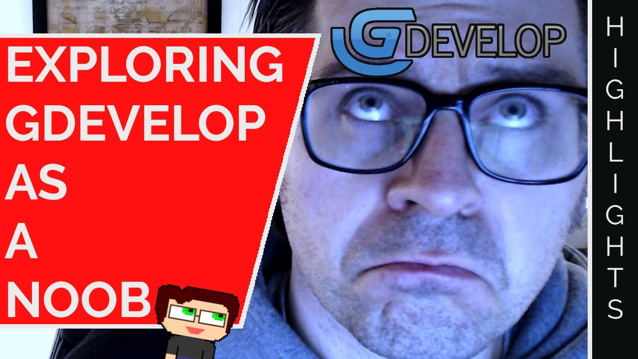 Thumbnail images for GDevelop, Prototyping, and Noobness | Stream Highlights video