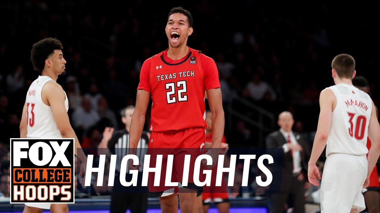 No. 1 Louisville upset by Texas Tech, 70-57  HIGHLIGHTS