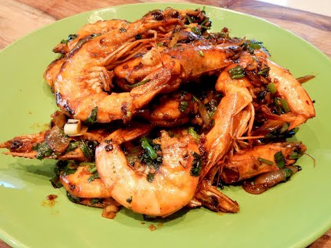 S1Ep64-Stir Fry Shrimp With Ginger, Garlic & Chili Black Bean Sauce 薑蒜辣豆豉炒蝦