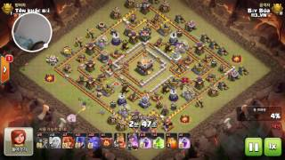 Clash of Clans clear hall 11 gần max. Gamer Bảy Búa (clans 113_vn)