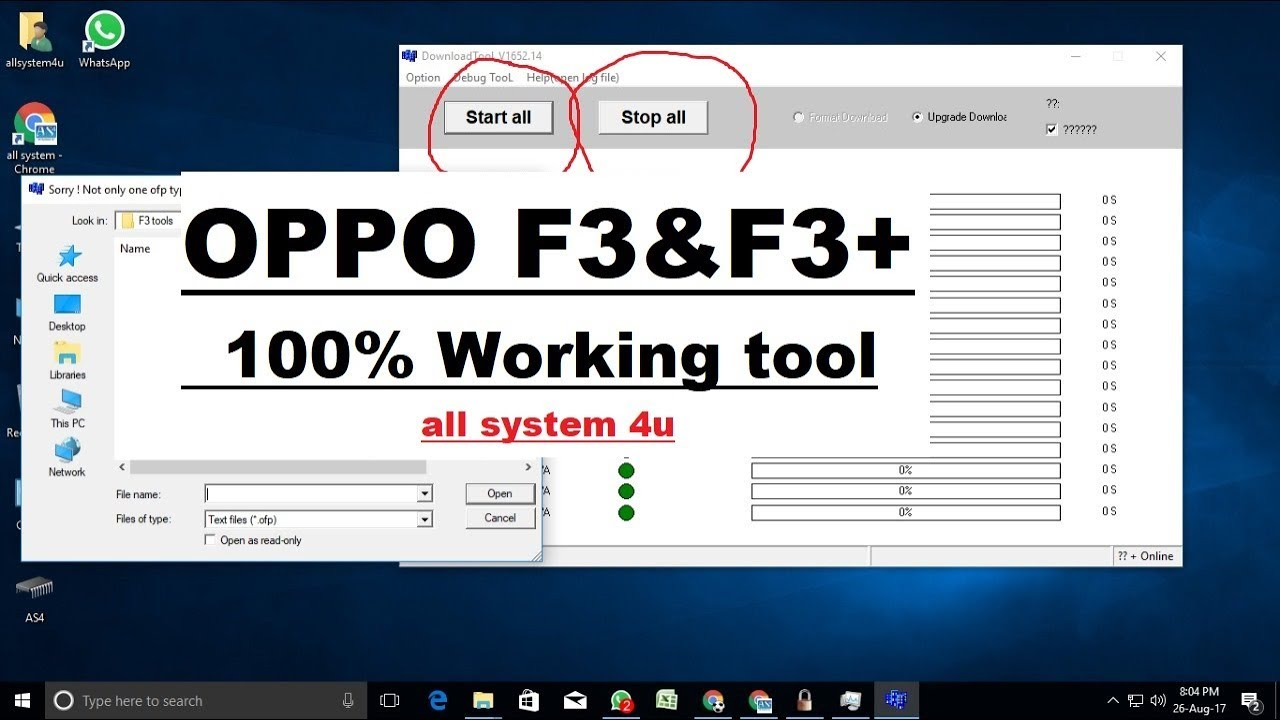 Oppo F1s Ofp File