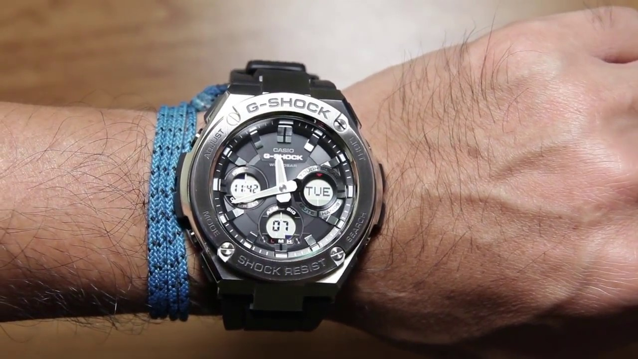 Casio G Shock G Steel Gst S110 1a G Steel Series Youtube