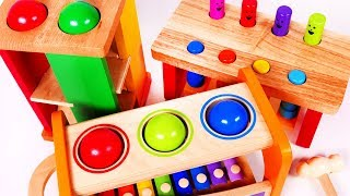 Learn your Colors with Pounding Table Playsets for Kids