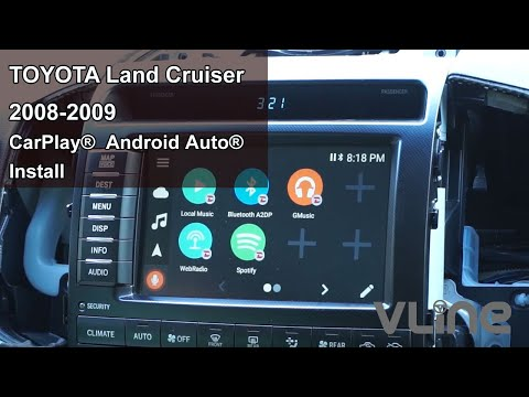 Toyota Land Cruiser 2008 2009 VLine Android Navigation And Apple CarPlay System Install
