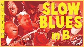 SLOW BLUES Backing Track in B